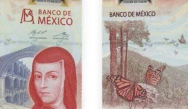 Billete 100 Sor Juana Inés de la Cruz billete del año 2020