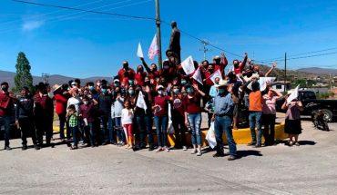 Con caravana, Alejandra Pimentel arranca campaña por Churintzio, Michoacán