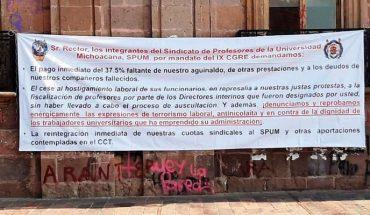 Con manifestación en Junta Local de Conciliación y Arbitraje, SPUM exige toma de nota a Comité Interino