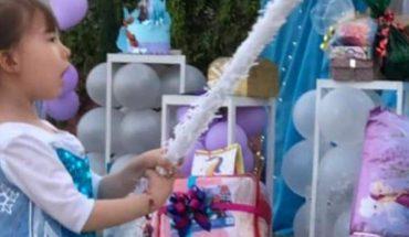 Congelada fiesta de cumpleaños