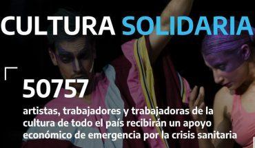 Cultura Solidaria: más de 50 mil trabajadores y trabajadoras de la cultura recibirán el apoyo extraordinario del Ministerio de Cultura