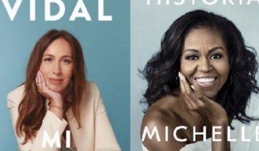 El parecido de la portada del libro de Eugenia Vidal con el de Michelle Obama