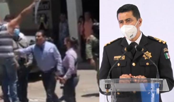 Minimiza SSP agresión de Silvano a manifestante en Aguililla
