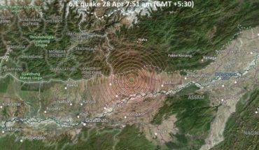 Sismo de magnitud 6,4 en India, se registran daños materiales