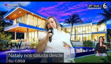 ¡Nataly presume su lujosa casa!   Es Show