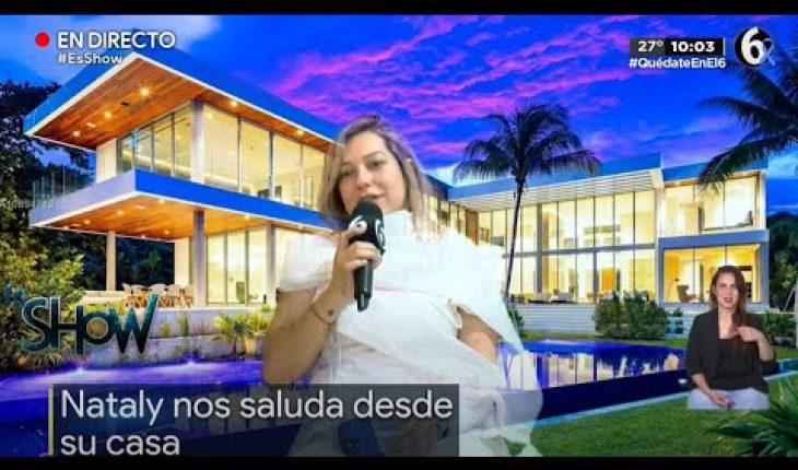 ¡Nataly presume su lujosa casa! | Es Show
