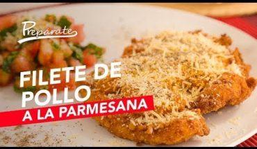 Así se prepara un sabroso filete de pollo a la parmesana - Prepárate