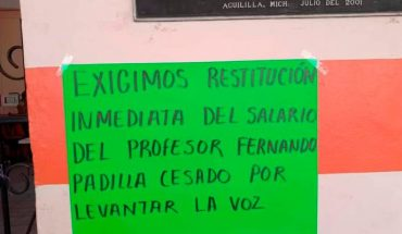 After protests, they release Aguililla professor's payroll