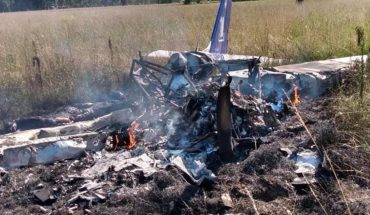 An aircraft crashed in Cañuelas: a student and his instructor died