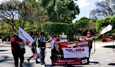 Arduous week of campaign work in the 5th arrondissement was conducted by Yolanda Guerrero, a candidate for federal deputy for MORENA