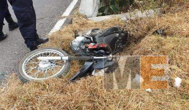 Biker injured by drift in Zitácuaro
