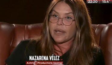 """Nazarena Velez on her addiction: """"I took notion when I was about to die"""""""