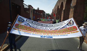 En el marco del Día del Trabajo, trabajadores urgen cambio de gobierno en Michoacán