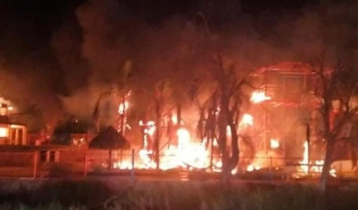 Grupo armado siembran terror en Caborca; queman propiedades