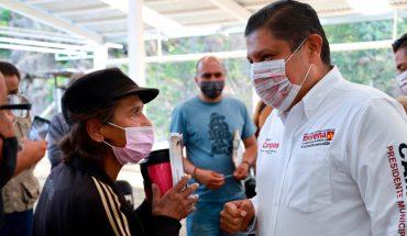 Nacho Campos se reúne con comerciantes de la zona poniente de Uruapan