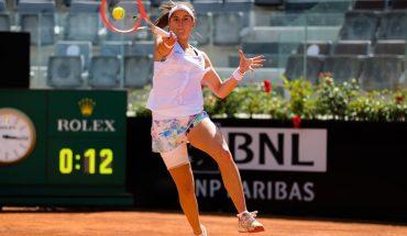 Nadia Podoroska se despidió de Roma tras la histórica victoria ante Serena Williams