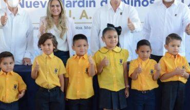 Rector inaugura jardín de niños y centro de investigación