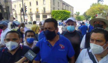 Sección XVIII de la CNTE demanda estabilidad laboral a candidatos a gubernatura de Michoacán