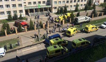 Un profesora y siete niños murieron en tiroteo en escuela en Rusia