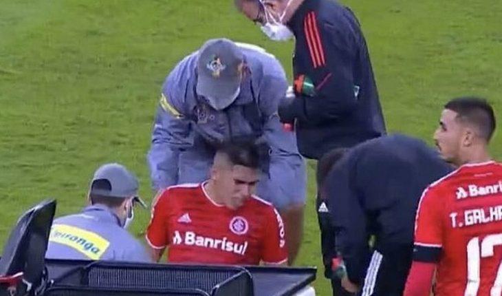 [VIDEO] Carlos Palacios salió lesionado y llorando en partido del Inter de Porto Alegre ante Juventude