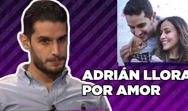 Adrián llora por su ruptura amorosa   Adrián Marcelo Presenta