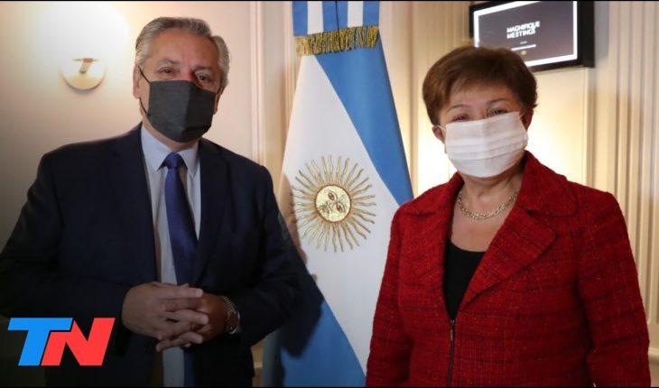 """Alberto Fernández, tras la reunión con Kristalina Georgieva: """" La vocación es encontrar un acuerdo"""""""