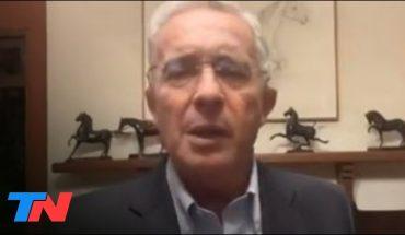"""Alvaro Uribe sobre la crisis en Colombia: """"Aquí no hay violencia institucional"""""""