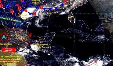 fuertes lluvias en el norte y sur