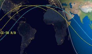 Chinese long march 5B CZ-5B rocket trajectory worldwide