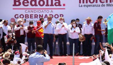 Ignacio Campos Equihua, accompanies Alfredo Ramírez on his campaign start