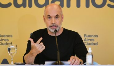 Larreta confirmed the return to face-to-face classes for Garden and Primary