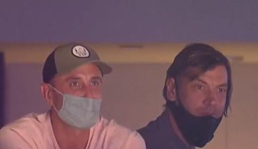Manu Ginóbili and Fabricio Oberto went to see the Spurs and took a standing ovation