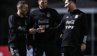 The night training of the Argentina national team