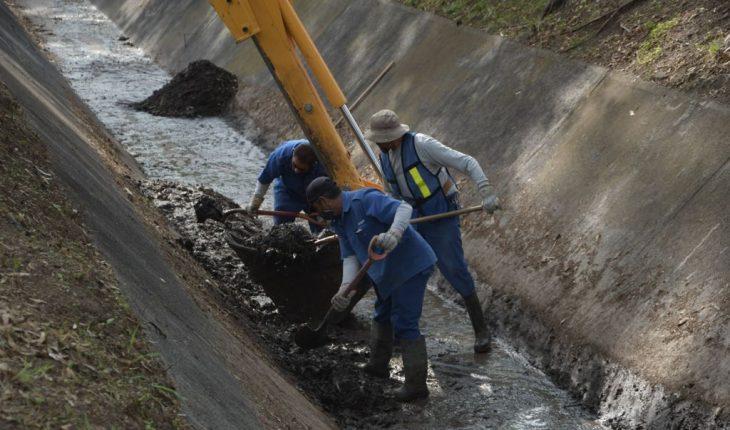 Brigada Interinstitucional retira 50 tonelada de material en canal Fray Antonio de San Miguel