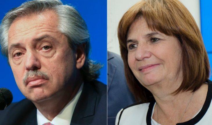 """Demanda por """"difamaciones"""": el presidente asiste a una mediación con Bullrich"""