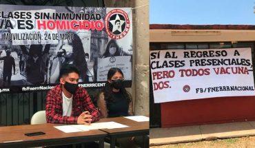 Estudiantes de Federación Nacional denunciarán al Ejecutivo Federal por omisión ante demandas por pandemia