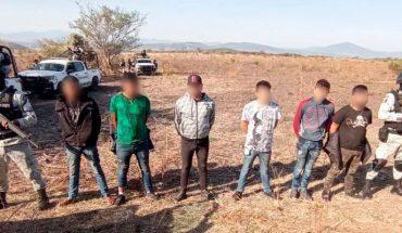 Guardias nacionales capturan a 6 presuntos integrantes del CJNG