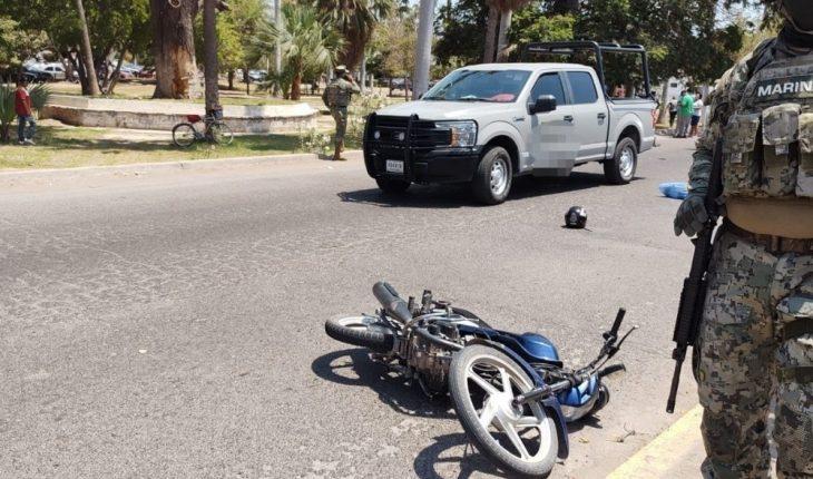 Identifican motociclista chocado Marina Los Mochis, Sinaloa
