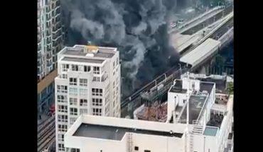 Incendio y una fuerte explosión en la estación de tren de Elephant and Castle de Londres (video )