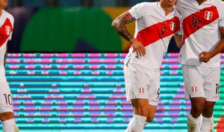Lapadula marcó su primer tanto con Perú
