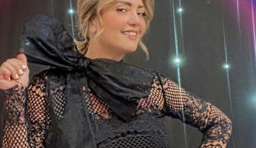Las piernas de Andrea Legarreta en vestido de encaje negro