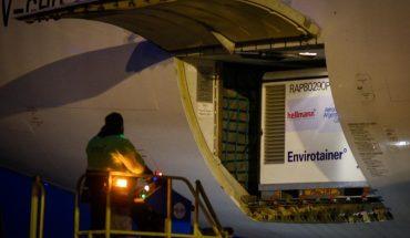 Llegó el tercer vuelo desde China con 464.000 vacunas de Sinopharm