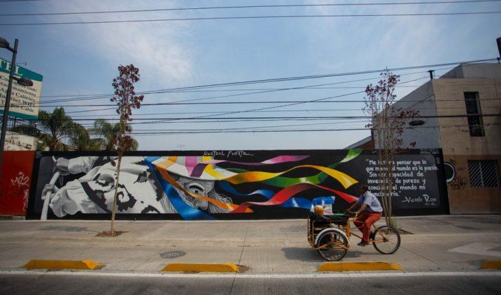 Mejoran imagen urbana con murales en avenida Madero Poniente