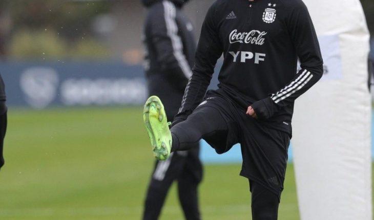 Scaloni practica el once ante Uruguay del viernes
