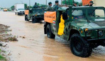 Sedena aplica plan DN-III por inundaciones en Oaxaca