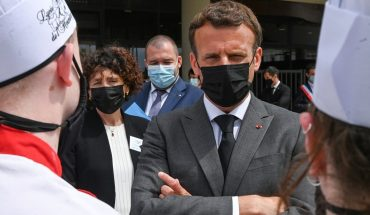 A protester beat Emmanuel Macron during his tour of the interior