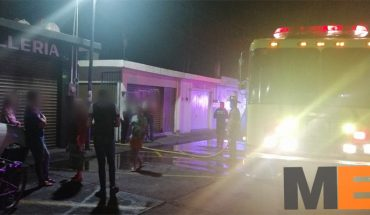Fire is recorded in the market of the Adolfo López Mateos colony