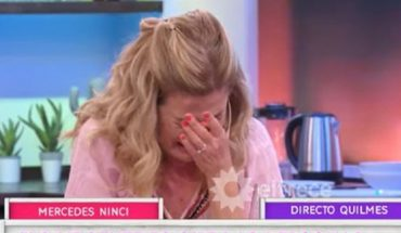 """Mercedes Ninci's anguish live: """"It makes me sick so much poverty"""""""