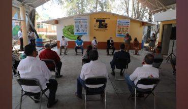Sanitary supplies arrive in 40 schools in Michoacán