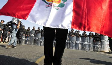 Supporters of Free Peru and Popular Force demonstrated in Lima